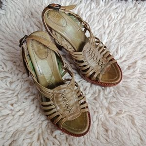 Frye heeled chunky sandals